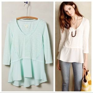Anthropologie Meadow Rue Mint Top